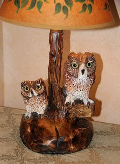Owl Wood Carving Sculpture by DonnaMariesArt on Etsy