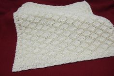 King Charles Brocade Baby Blanket - Afghans Baby Knitted My Patterns - - Mama's Stitchery Projects