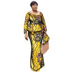 african o-neck plus size skirt set long sleeve suit - Dukaiko Fashion African Fashion Designers, African Men Fashion, Africa Fashion, African Wear, African Attire, African Fashion Dresses, African Dress, Fashion Outfits, Fashion Styles