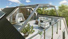 Dachterrasse gestalten modern
