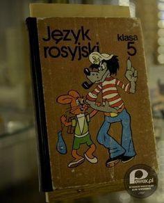 Nauka języka rosyjskiego – Naukę języka rosyjskiego rozpoczynaliśmy w klasie V! A to pierwszy podręcznik. Pamiętacie?