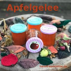 Apfelgelee Canning, Marmalade, Apple Recipes, Deco
