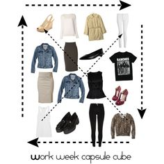 Work week capsule cube- 10 outfits by tiffinianne on Polyvore featuring T By Alexander Wang, ONLY, Baja East, Merona, YesStyle Z, Raxevsky, River Island, Whistles, Topshop and Butter Shoes