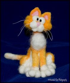Cute Needle Felted Cat