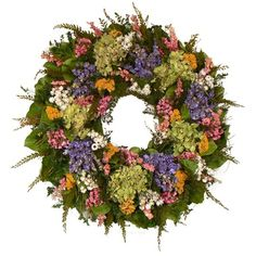 I pinned this Sanibel Floral Wreath from the Floral Treasure event at Joss & Main!