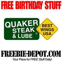 BIRTHDAY FREEBIE - Quaker Steak & Lube - FREE BDay Dessert and $5 OFF