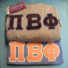 One of our on sale packs, available now. Click through to see how many are available (usually one) and for more information on the items included. It's practically a steal! Pi Beta Phi, Custom Greek Apparel, Sorority Outfits, Greek Clothing, Greek Outfits