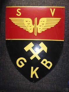 #1265-Vintage Club Schild-Unikat-handgemalt-SV GKB-Sportverein Graz Köflach Bahn