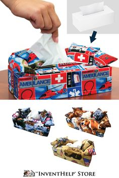 It's allergy season! Give your tissue boxes some style with KryNKouch! Available at the inventhelpstore.com.