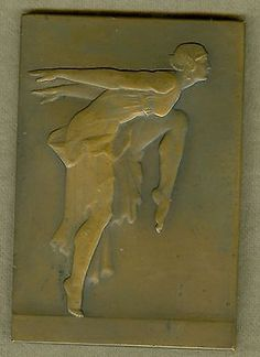 20th Century French Art Deco Dance and Music Award Medal, by E. Blin