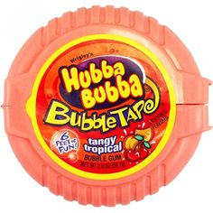 Tangy Tropical flavor transports your taste buds to a relaxing tropical island. 6 feet of fun with bubble-gum tape. The perfect gum for challenging friends to bubble-blowing contests. Chewing Gum, Gum Brands, Bubble Gum Flavor, Gum Flavors, Tangier, Food Goals, Junk Food, Food Food, Gourmet Recipes