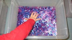A new favorite material for sensory play ~ water beads (or water gems or water jewels).