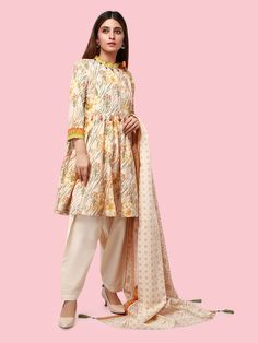 ELU19A10-19898 Khaddar Suit (2PC) | edenrobe Brownie Cupcakes, Duster Coat, Suits, Fabric, Jackets, Women, Fashion, Tejido, Down Jackets
