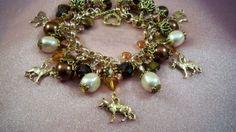GERMAN SHEPHERD   ap5   Bracelet  Gift Chain to by HOBBYHORSELADY, $54.90