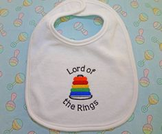 Double entendre baby bibs. | 24 Things Nerds Do Better ThanYou