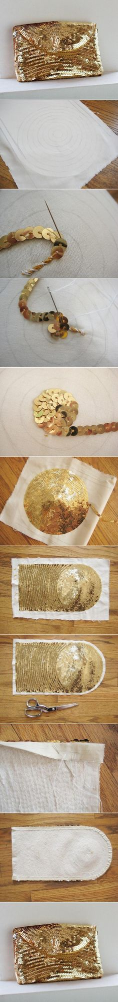 #DIY #sequin #clutch #handmade easy diy how to make a great glittery shiny hand bag purse :)