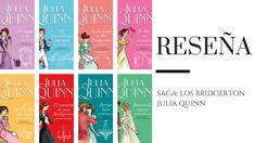 "Reseña: Saga ""Bridgerton"" de Julia Quinn (pronto en Netflix) - Pirra Smith Saga, Shelf, Books, Movie Posters, Ideas, Historical Romance, Books To Read, Reading, Teen Books"