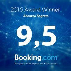 Guest Review Awards 2016 from Booking.com!   Ecco il nostro bel Guest Review Award direttamente da @Booking .com! #guestsloveus #Abruzzo #travel #italy #navelli #abruzzosegreto
