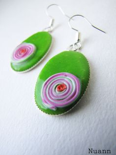 Items similar to Grass green, pink dangle polymer clay earrings. Fresh spring trend on Etsy Clay Ideas, Polymer Clay Earrings, Drop Earrings, Jewellery, Unique Jewelry, Handmade Gifts, Rose, Green, Art
