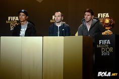 Bola.net: Galeri: Gemerlapnya FIFA Ballon d'Or Gala 2012