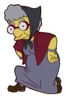 Grandma Van Houten Simpsons Characters, Fictional Characters, The Simpsons, Bart Simpson, Zero, Board, Fantasy Characters, Planks