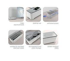 Allibert 220046 E-Box Boîte de Rangement Rectangulaire pour Câbles Polypropylène Blanc/Gris 36,79 x 14,7 x 12,6 cm: Amazon.fr: Cuisine & Maison