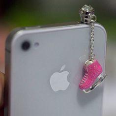 Kawaii SKATING Iphone Earphone Plug/Dust Plug by fingerfooddelight, $8.00