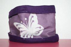 Snood - tour de cou violet papillon