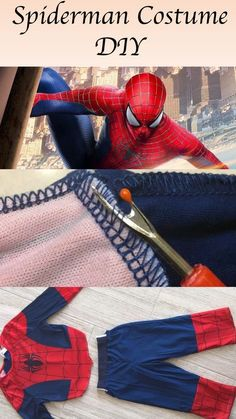 The article provides details on how to DIY a Spiderman Costume to make it schrool-friendly for little ones. The same technique can be used for any costume. Toddler Spiderman Costume, Spiderman Halloween Costume, Spiderman Outfit, Diy Halloween Costumes For Kids, Paper Halloween, Halloween Sewing, Creative Costumes, Halloween 2019, Boy Costumes