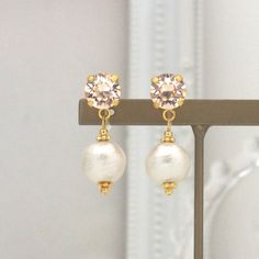 MiyabiGrace: Light Silk Swarovski Crystals and White Cotton Pearl Invisible Clip on Earrings, コットンパールイヤリング, スワロフスキーイヤリング #cottonpearl #CottonPearlEarrings #PearlClipOnEarrings #CottonPearlClipOnEarrings #InvisibleClipEarrings #ClipOnEarrings #SwarovskiClipOnEarrings #WeddingPearlClipOnEarrings  #WhitePearlClipOnEarrings #Pink#SwarovskiClipOnEarrings #PearlNonPiercedEarrings #NonPieredEarrings #PearlEarrings #コットンパールイヤリング #コットンパール #スワロフスキーイヤリング #コットンパールノンホールピアス #ノンホールピアス