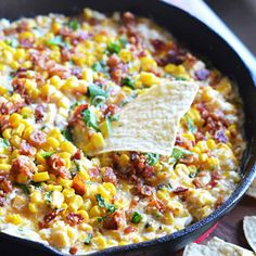 15 Over-the-Top Super Bowl Dips That Will Be Gone by Halftime bacon jalapeno corn dip Super Bowl Dips, Corn Dip Recipes, Appetizer Recipes, Appetizers, Appetizer Ideas, Party Recipes, Cheesy Recipes, Snack Recipes, Jalapeno Corn Dip