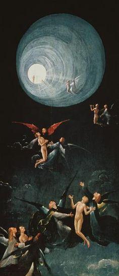 Jerónimo Bosch o El Bosco  - Asenso del bendito al Paraíso (cuatro representaciones de esta obra)