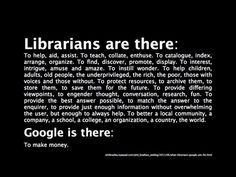 Librarians vs. Google