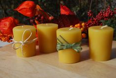 100 Pure Canadian Beeswax Votive Candles by BurnstownBees on Etsy, $9.00