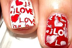 Valentine's nails / manicure Walentynkowy / Nail art check it out /  zapraszamy do  www.beauty4ever.pl