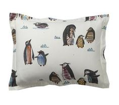 Penguin Walk 5 oz. Flannel Bedding