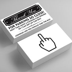 Funny Bad Parking Business Cards - Thank You For Parking So Close, You Suck At Parking Funny Joke Gag Notes Cards Fake Parking Ticket Funny Greeting Card Prank - Silly Gift Ideas Bad Parking, Parking Tickets, Greeting Card Shops, Funny Greeting Cards, You Funny, Funny Jokes, Funny Shit, Hilarious, Funny Sayings