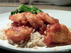 Finding Joy in My Kitchen: Sweet & Sour Chicken (baked not fried) Yummy Recipes, Wrap Recipes, Healthy Eating Recipes, Skinny Recipes, Brunch Recipes, Asian Recipes, Cooking Recipes, Healthy Food, Recipies