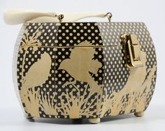 1960s purse/ 60s box purse/ decoupage by MidnightMart on Etsy, $52.00
