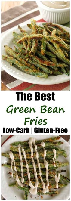 Crispy Baked Green Bean Fries in Balsamic Yogurt Dip or eat them hot out of the oven with this easy recipe. You'll satisfy your need to crunch with a veggie! Baked Green Bean Fries with Balsamic Yogurt Dip Best of Ketogeni Gluten Free Recipes, Low Carb Recipes, Vegetarian Recipes, Cooking Recipes, Healthy Recipes, Vegetarian Breakfast, Simple Recipes, Fruit Recipes, Easy Cooking