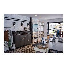 "IVAR 2 section storage unit w/cabinets IKEAWidth: 68 7/8 "" Depth: 11 3/4 "" Height: 48 7/8 "" Width: 175 cm Depth: 30 cm Height: 124 cm"