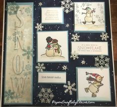 Let's make a winter birthday card with snowflakes. We have summer cards with flowers, let's make winter birthdays special. Christmas Shadow Boxes, Christmas Frames, Christmas Cards, Christmas Collage, Handmade Christmas Gifts, Handmade Birthday Cards, Fall Cards, Winter Cards, Paper Christmas Decorations