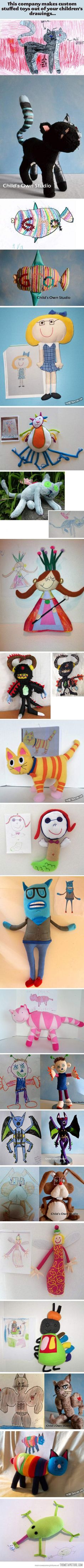 Company that makes the crazy creations your kids draw into stuffed animals, super cool