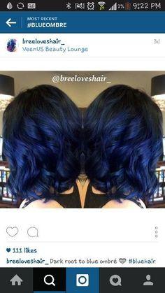 Stunning Midnight Blue Hairstyles!
