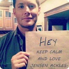 Recadinho do @jensenackles para vocês... #instaseriados #seriados #seriado #series #serie #supernatural