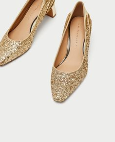 Image 4 of GOLD COURT SHOES from Zara