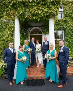 We loved the modern stylish and bold approach in clothing complimented by the soft palette tones of the flowers Wedding Venues, Wedding Day, Ireland Wedding, Bridesmaid Dresses, Wedding Dresses, Compliments, Wedding Flowers, October, Palette