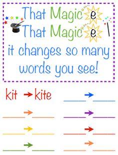 Magic E freebie