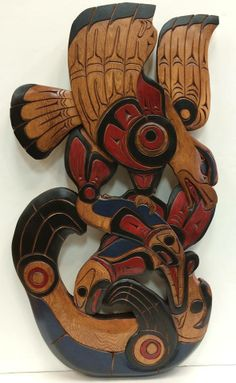 Eagle, Salmon and Sea Lion by Squamish Nation artist Art Harry.