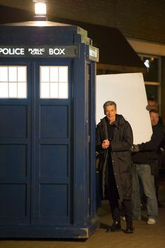 "Twelve | Peter Capaldi | Doctor Who | Filming ""Listen"" in Cardiff Bay, February 2014 #doctorwho #petercapaldi"